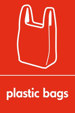 Plastic bags signage - carrier bag icon (portrait) - WRAP ...