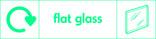 Flat glass signage - pane icon with logo (landscape)