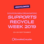 Supports Recycle Week social media asset. Embargoed until 23 September 2019