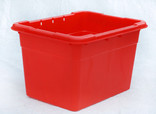 Red recycling container