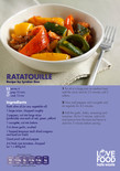 Student-friendly recipe,ratatouille