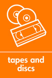 Tapes & discs signage - icon (portrait)