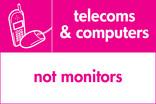 Telecoms & Computers signage - phone & mouse icon (landscape)