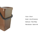 Single brown food waste kerbside container