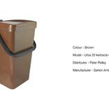 Single brown food waste kerbside container