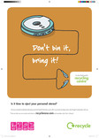 Don't Bin it Bring it - A3 poster for Stereos