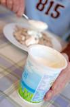 Pot of natural yoghurt