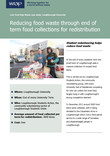 Reducing food waste through end of term food collections for redistribution