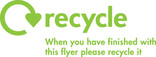 Recycle Mark with message for printed flyers