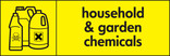 Household & garden chemicals signage - poison bottles icon (landscape)