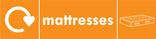 Mattress signage - mattress icon with logo (landscape)