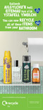 Good to Know - Metal and Glass - Bilingual Lamp post banners - Bathroom, Lounge and Kitchen (Welsh first)