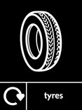 Tyres signage - Tyre icon with logo (portrait)