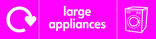 Large Appliances signage - washing machine icon with logo (landscape)