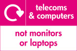 Telecoms & Computers (not monitors or laptops) signage - logo (landscape)