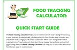 Your Business is Food 7 Day Calculator Quick Start Guide