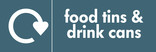 Food tins and Drink cans signage - logo (landscape)