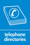 Telephone directories signage - directory icon (portrait)