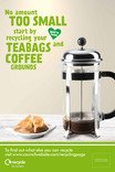 Recycle for London - Food recycling - Coffee (Cafetiere) - 6 sheet poster