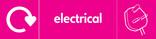 Electrical signage - plug icon with logo (landscape)