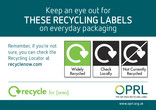 On-pack Recycling Label - section for use on A5 Leaflet with Recycle for [local area] logo