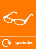 Spectacles signage - glasses icon with logo (portrait)