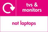TVs & Monitors (not laptops) signage - logo (landscape)