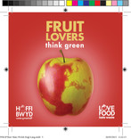 Food lovers Environmental,Apple,drink/beer mat,with Welsh logo