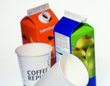 Juice cartons and disposable coffee cups