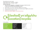 Recycle for Wales Bilingual Localised Brand Mark