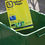 Recycling Yellow Pages in kerbside recycling bin