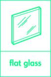 Flat glass signage - pane icon (portrait)