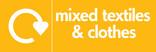 Mixed textiles & clothes signage - logo (landscape)