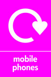 Mobile Phones signage - logo (portrait)