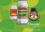 Let's Recycle More Poster - Glass,Landscape
