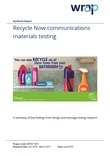Recycle Now Communications Materials Testing Report