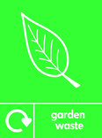 Garden waste signage - leaf icon with logo (portrait)