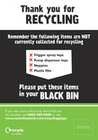 Recycle for London - Good to Know recycling bin sticker