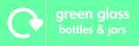Green glass signage - logo (landscape)