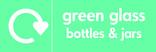 Green glass signage - logo (landscape)