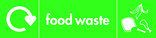 Food waste icon - image,text and logo (landscape)