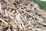 Pile of waste wood
