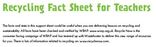 Fact sheet for teachers - key stages 1 and 2