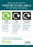 On-pack Recycling Poster with Recycle for London logo