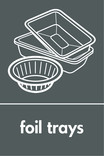 Household metal packaging (foil trays) signage - foil trays icon (portrait)