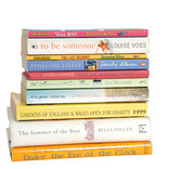 Stack of children's and adult's books - hardback and paperback