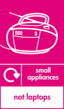 Small appliances (not laptops) signage - radio icon with logo (portrait)
