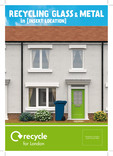 Recycle for London - Good to Know Metal and Glass A5 leaflet - house cover