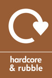 Hardcore & Rubble signage - Logo (portrait)