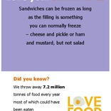 Poster for internal campaigns,sandwiches
